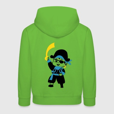 Retro Kid Billy as a pirate by Patjila - Kids' Premium Hoodie