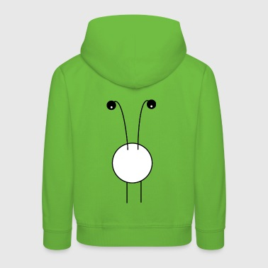 curious monster big belly and big eyes - Kids' Premium Hoodie