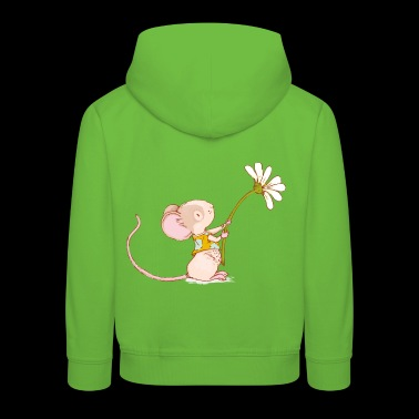 Mouse with flower - Kids' Premium Hoodie