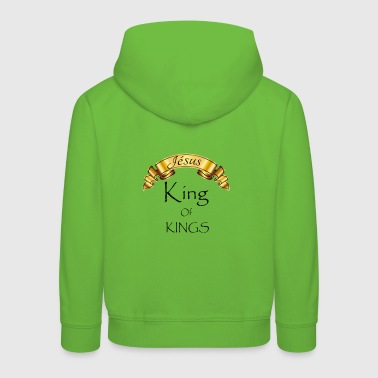 Jesus King of Kings - Kinderen trui Premium met capuchon
