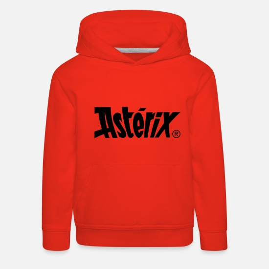Officialbrands Hoodies & Sweatshirts - Asterix & Obelix - Asterix Logo Kid's Hoodie - Kids' Premium Hoodie red