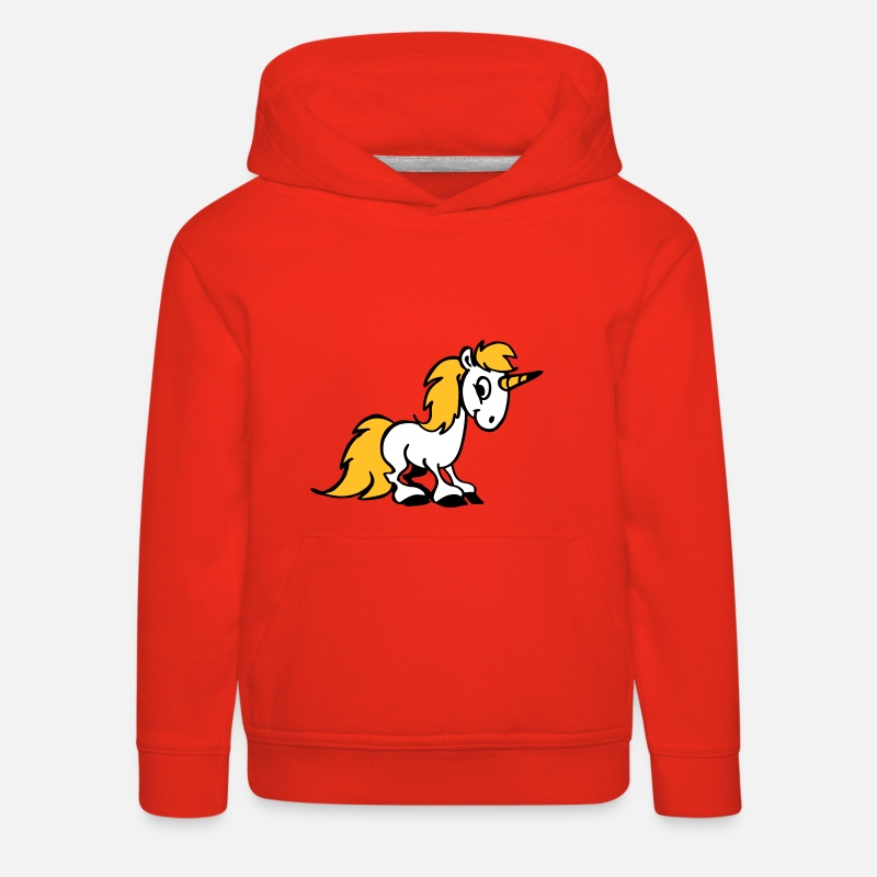 Licorne Sweat-shirts - Licorne - Sweat à capuche premium Enfant rouge