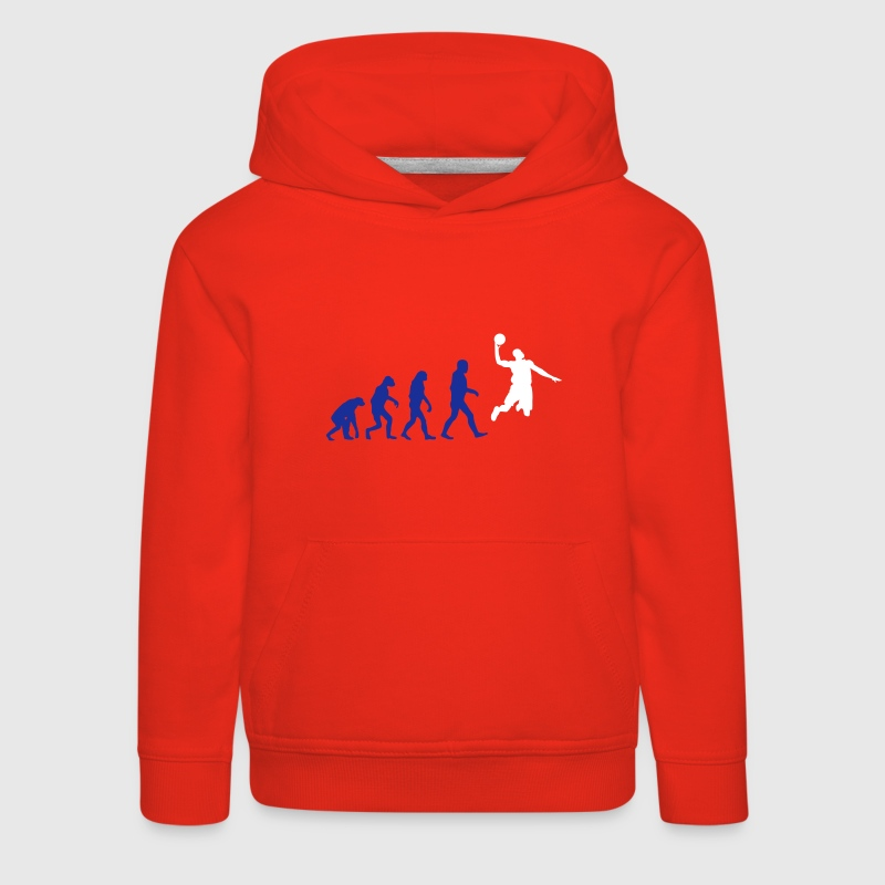 Basketball evolution logo - Pull à capuche Premium Enfant