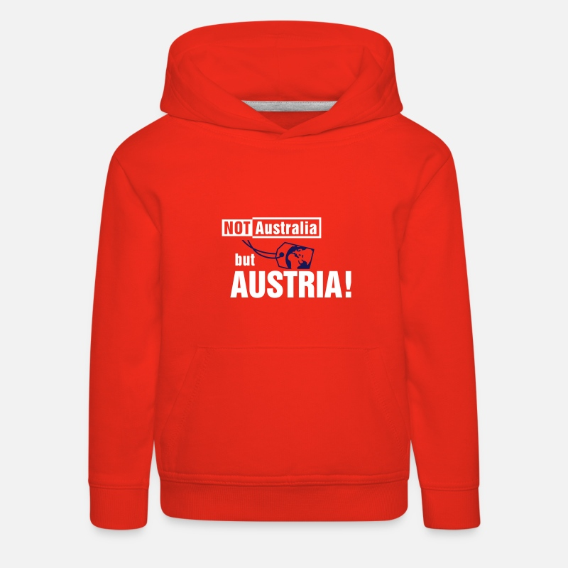 Vienna Hoodies & Sweatshirts - Not Australia but Austria - Kids' Premium Hoodie red