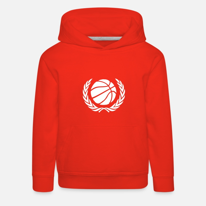 Basket Sweat-shirts - Basket-ball Basketball Basket - Sweat à capuche premium Enfant rouge