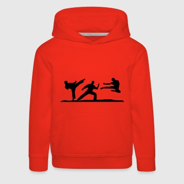 Martial Arts - 3 Fighters - Felpa con cappuccio Premium per bambini