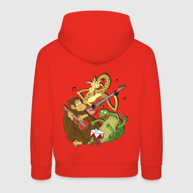 Zoo animals make music - Kids' Premium Hoodie