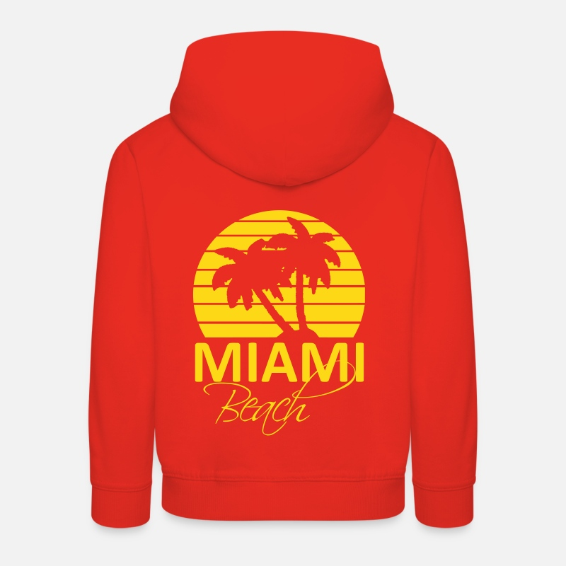 Miami Sweat-shirts - miami beach - Sweat à capuche premium Enfant rouge