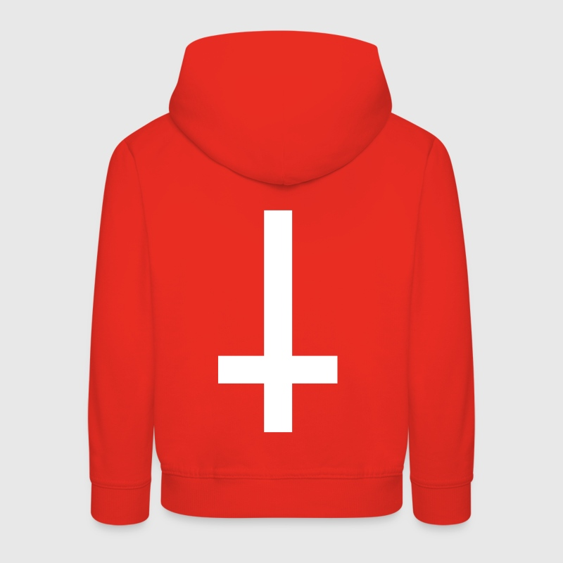 simple cross upside down - Kids' Premium Hoodie
