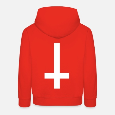 Down simple cross upside down - Kids' Premium Hoodie