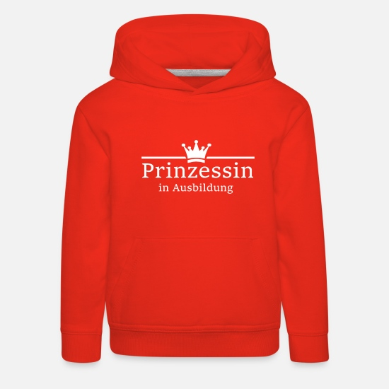 Princess Hoodies & Sweatshirts - Princess in training - girl - girl - girlie - Kids' Premium Hoodie red