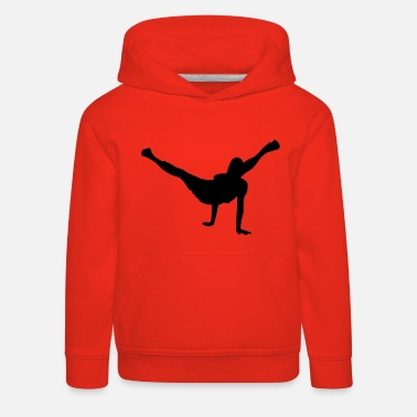 Breakdance breakdancer bboy silhouette - Kinder Premium Hoodie