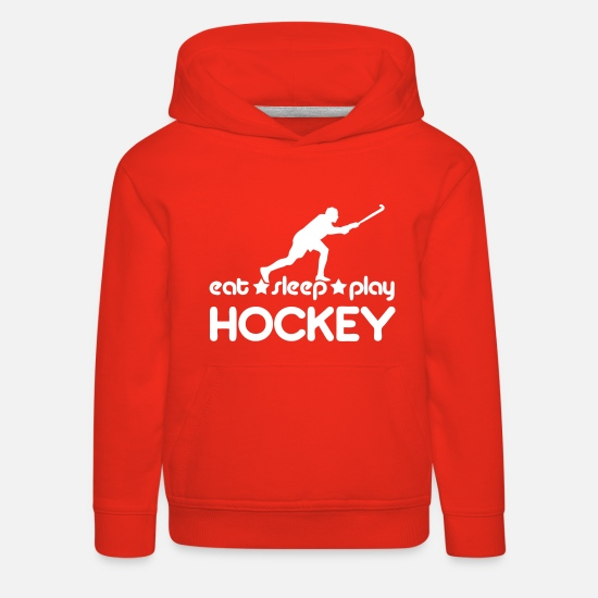 Field Hoodies & Sweatshirts - Eat Sleep Play Hockey - Kids' Premium Hoodie red