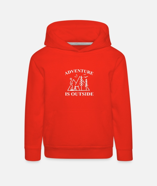 Outsider Hoodies & Sweatshirts - Outdoor Travel Adventure Nature - Kids' Premium Hoodie red