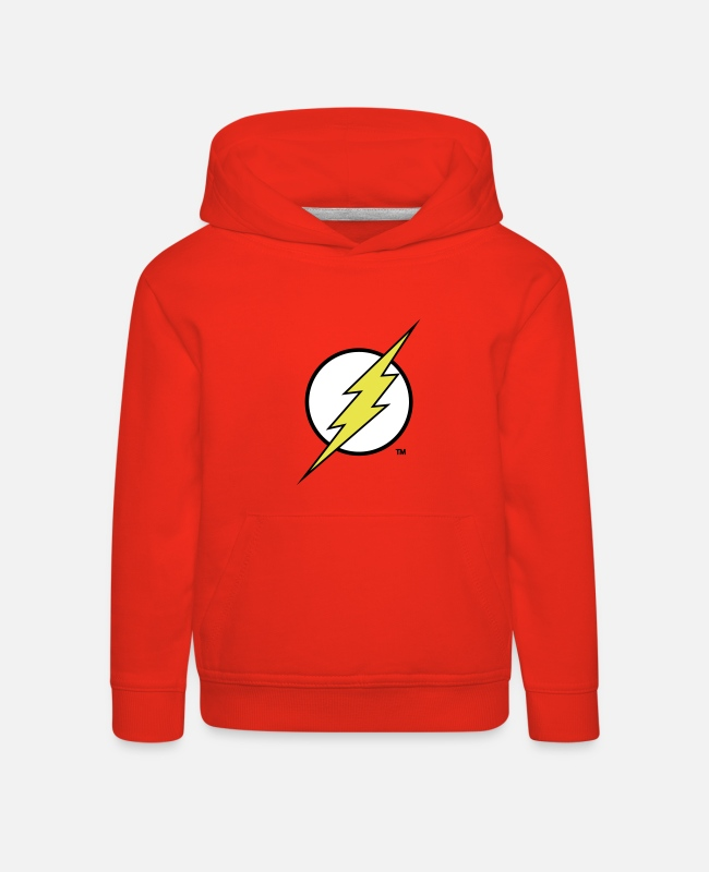 Justice Sweat-shirts - Flash Logo Flex - Sweat à capuche premium Enfant rouge