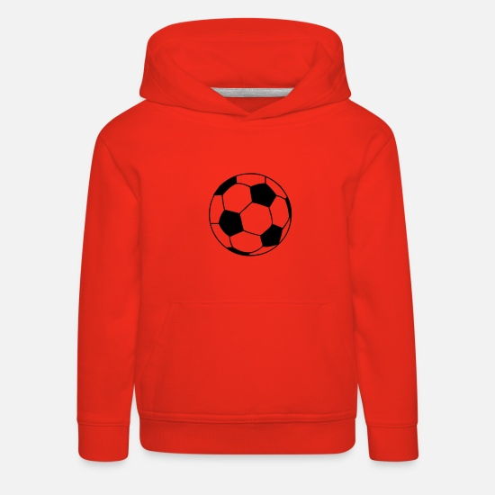 Ballon Sweat-shirts - ballon de foot football - Sweat à capuche premium Enfant rouge