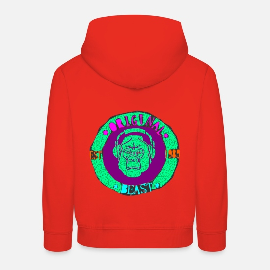 Beasts Hoodies & Sweatshirts - original beast gorilla trance - Kids' Premium Hoodie red