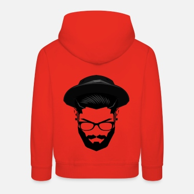 Hipster with hat and glasses - Kids' Premium Hoodie