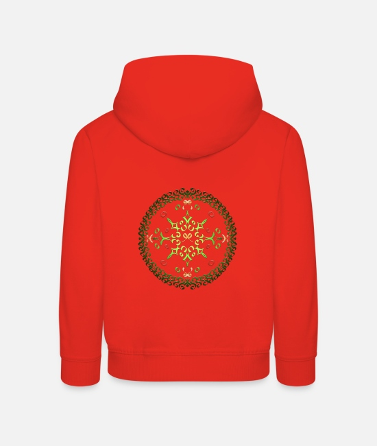 Circular Hoodies & Sweatshirts - Advent wreath - Kids' Premium Hoodie red