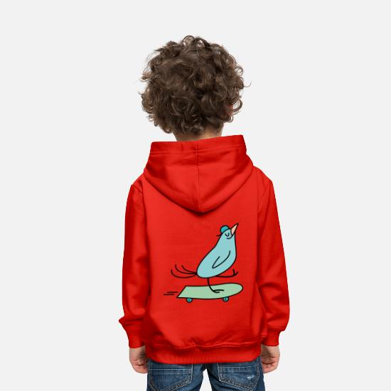 Bestsellers Q4 2018 Sweat-shirts - bird hangover - Sweat à capuche premium Enfant rouge