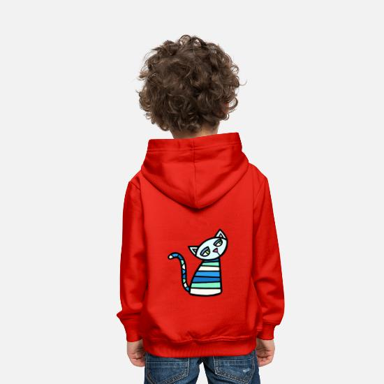 Chaton Sweat-shirts - Kitty Katz - Sweat à capuche premium Enfant rouge
