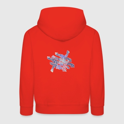 Abstract text 001 - Kids' Premium Hoodie
