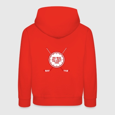 Hockey: You miss 100% hits you don't take - Kids' Premium Hoodie