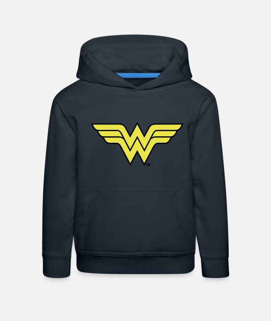 League Pullover & Hoodies - Justice League Wonder Woman Logo - Kinder Premium Hoodie Navy