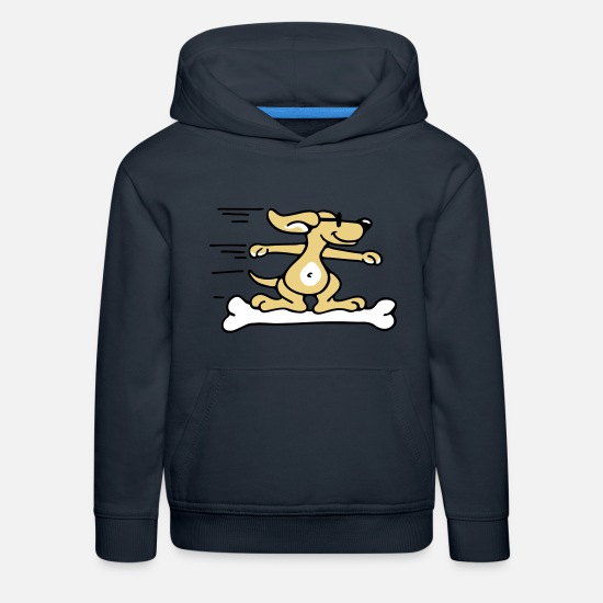 Miscellaneous Hoodies & Sweatshirts - Doggie Surfer - Kids' Premium Hoodie navy