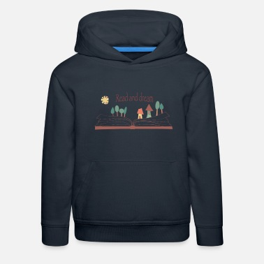 Read and dream - Sudadera con capucha premium niño