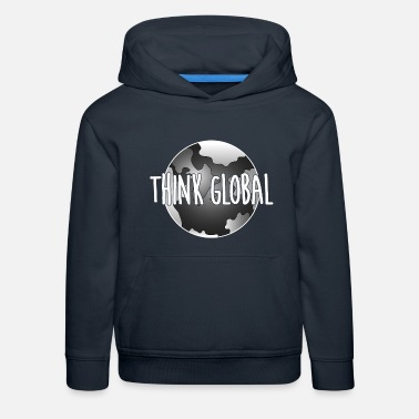 Global think global / global denken / global - Kinder Premium Hoodie