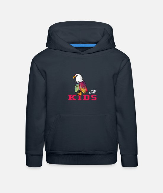 Jack Awesome Pullover & Hoodies - Jack Awesome Kids Eagle Colourful - Kinder Premium Hoodie Navy