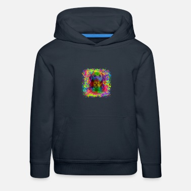 Labrador Retriever im Graffiti-Look - Kinder Premium Hoodie