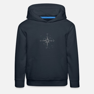 Cardinal Point Color mercenary - Windrose with the cardinal points - Kids' Premium Hoodie