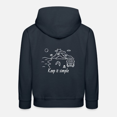 Simple Island van / surf, vie, voyage, plein air, - Sweat à capuche premium Enfant