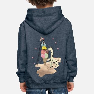 Wildlife Icecream - Pull à capuche Premium Enfant