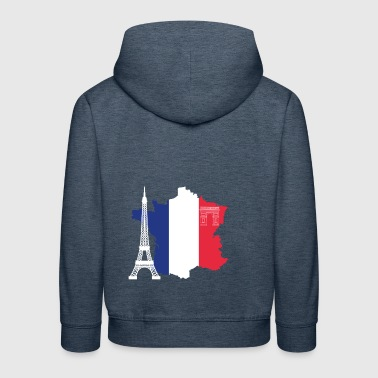 France with Eiffel Tower - Kids' Premium Hoodie