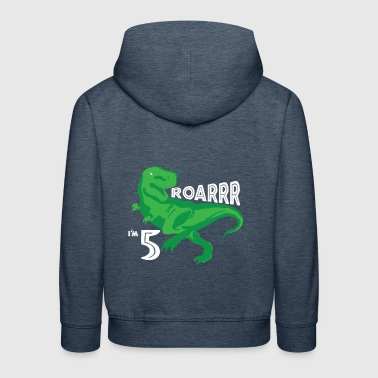 5th Birthday Dinosaur T-Shirt Gift - Kids' Premium Hoodie