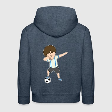 Soccer Shirt for Boys Funny Dabbing Dance Ball - Kinder Premium Hoodie