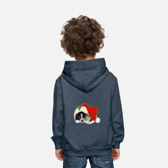 Noël Sweat-shirts - christma S617 - Sweat à capuche premium Enfant bleu jeans