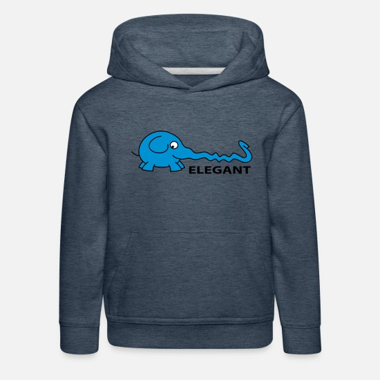 Animal Hoodies & Sweatshirts - Elegant - Kids' Premium Hoodie heather denim