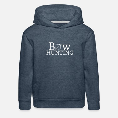Bowhunter Hunter with bow and arrow - Kids' Premium Hoodie