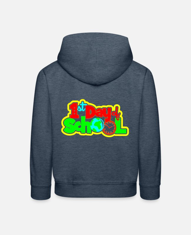 School Beginner Hoodies & Sweatshirts - back to CP - Kids' Premium Hoodie heather denim