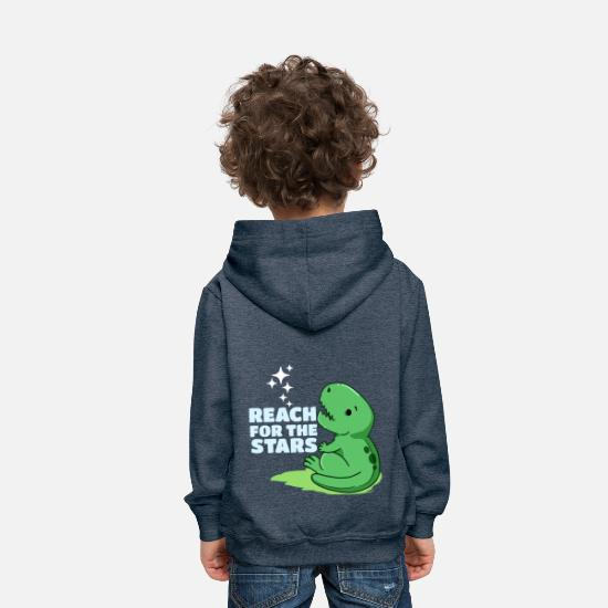 Gift Idea Hoodies & Sweatshirts - nachdensternengreifenrex - Kids' Premium Hoodie heather denim