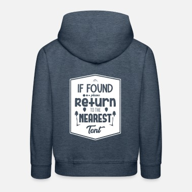 Return Return to tent - Kids' Premium Hoodie