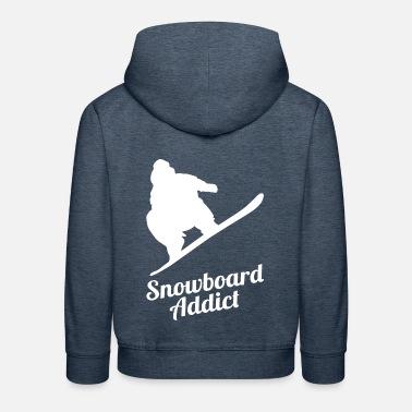 07e8a168e7c Snowboard snowboarder vinter sport snö Premium hoodie barn | Spreadshirt