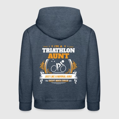 Triathlon Aunt Shirt Gift Idea - Kids' Premium Hoodie