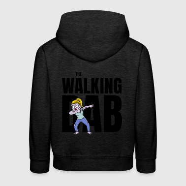 Gehirn The Walking DAB Zombie Girl Dabbing Halloween sw - Kinder Premium Hoodie