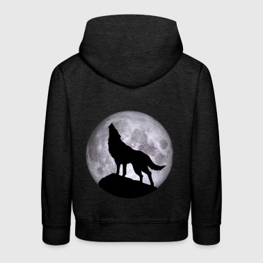 Wolf Full Moon Halloween Nightmare Nightmare - Kids' Premium Hoodie