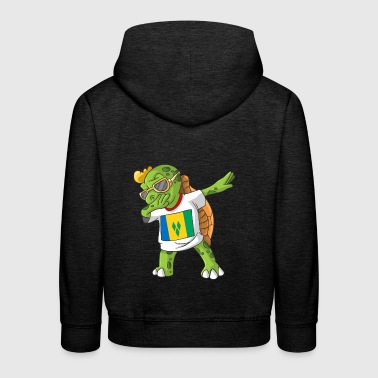 St. Vincent and the Grenadines Dabbing turtle - Kids' Premium Hoodie